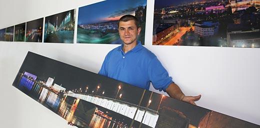 Ausstellung mit Panorama-Fotografien von Linz