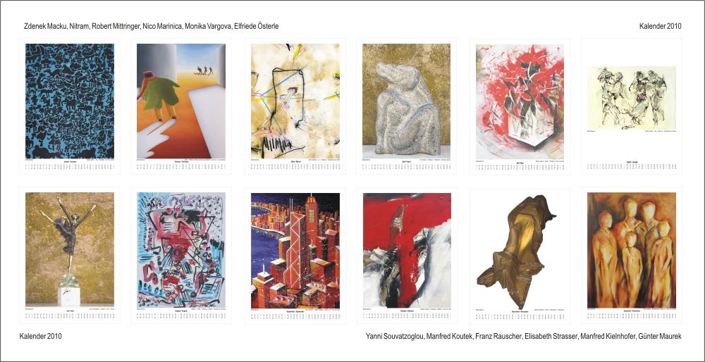 Künstlerkalender 2010 Gemälde, Zeichnungen & Skulpturen