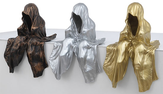 arsmundi skuptur mini waechter manfred kielnhofer gold silber bronze contemporary art arts design sculpture