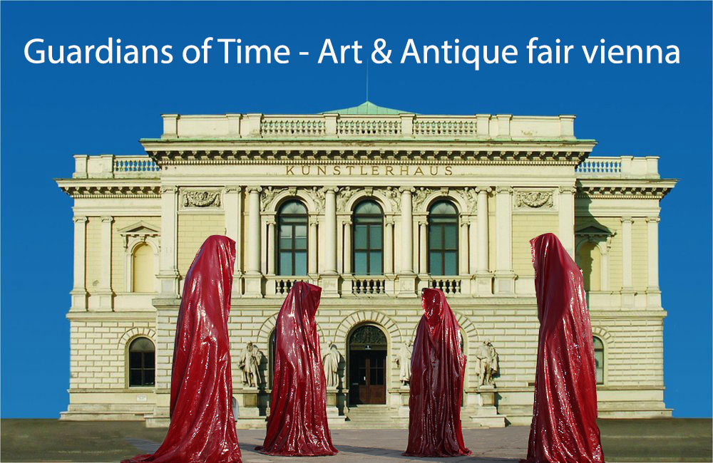Kuenstlerhaus-Wien-Wiener-Internationale-Kunst-and-Antiquitaetenmesse-art-and-antiques-vienna-fair-sculpture-arts-guardians-of-time-kielnhofer