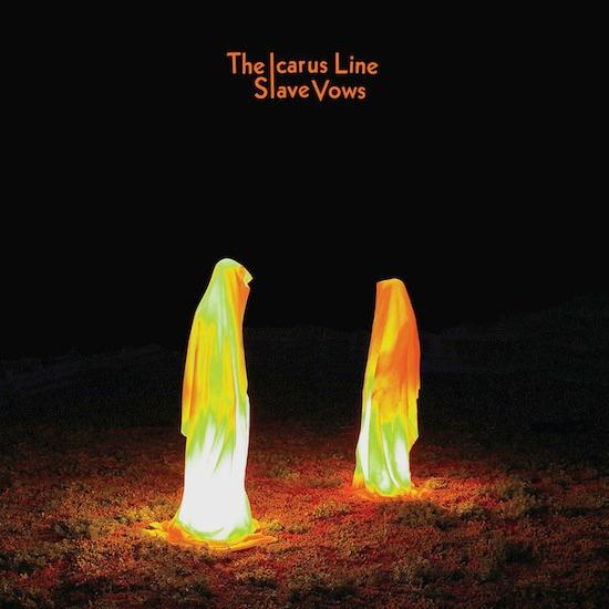 The_Icarus_Line_Slave_Vows_Avowed Slavery new music disk, Los Angeles freak out rock n roll group, The Icarus Line. Cover Guardians of Time sculptor Manfred Kielnhofer